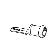 PIDG 0.25-1.5 ROJO FASTON MACHO-5MM (x100)