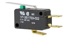 Microinterruptor, 277 Vca 15 A, palanca estándar