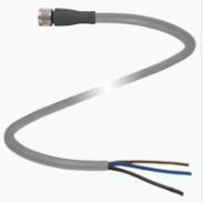 Cable 2 mts con conector M8 Recto de 3 pines material PVC-- Sensores GL