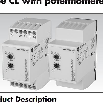 Rele control de nivel liquido CA Gavazzi para Electrodos de CA de baja tensión d
