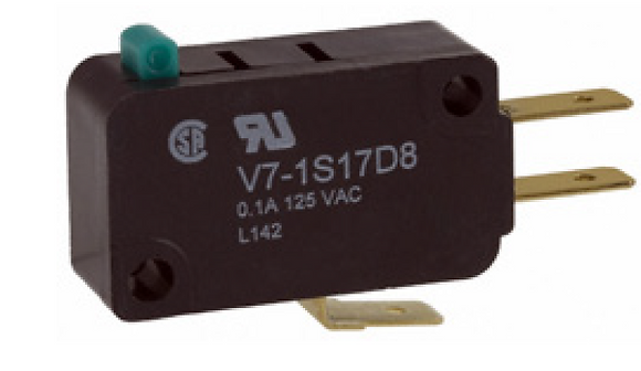 Microinterruptor, 277 Vca 15 A, émbolo