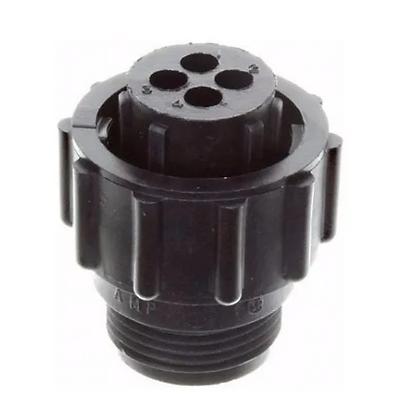 Conector plástico circular 4 viasmacho 206060-1