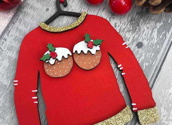 Christmas Pudding Jumper Decoration
