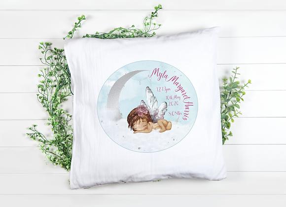 Personalised New Baby Fairy Keepsake Cushion