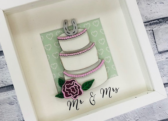 Mr & Mrs Wedding Cake Frame