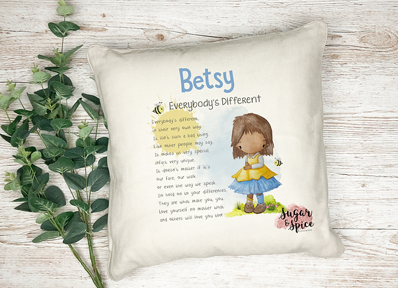 Personalised Everybody's Different Cushion