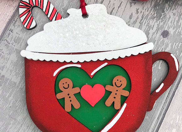 Gingerbread Coffee Cup Christmas Decoration