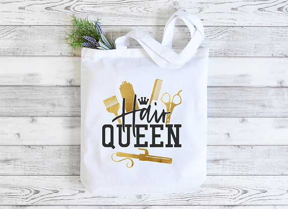 Hair Queen Tote Bag, FREE Pocket Mirror