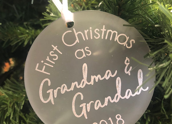 First Christmas as Grandma & Grandad Decoration