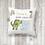 Thumbnail: Personalised Green Dinosaur Worry Cushion
