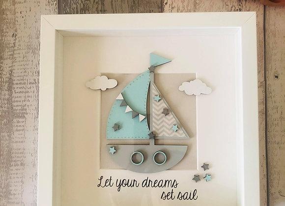 Let Your Dreams Set Sail Frame