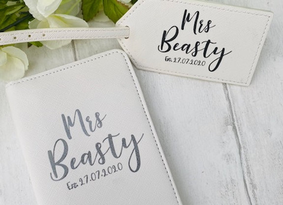 Personalised Passport Cover & Luggage Tag