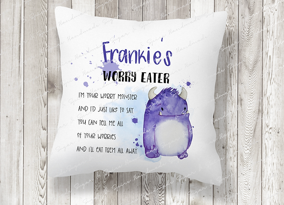 Personalised Worry Eater Worry Cushion