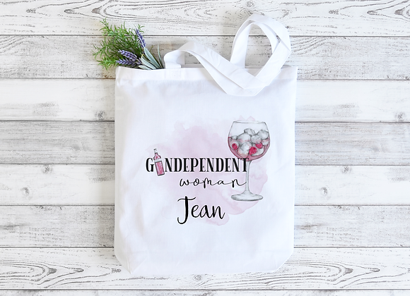 Personalised Gindependent Woman Tote Bag