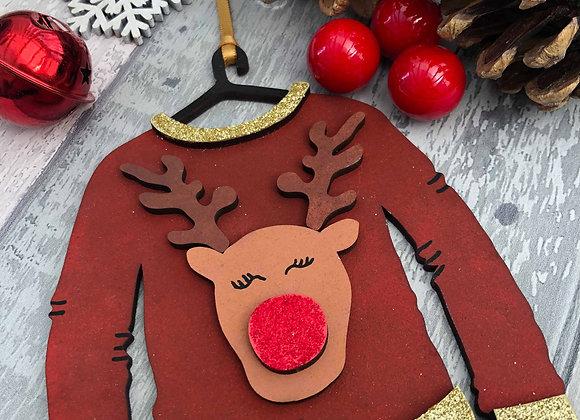 Rudolph Christmas Jumper Decoration