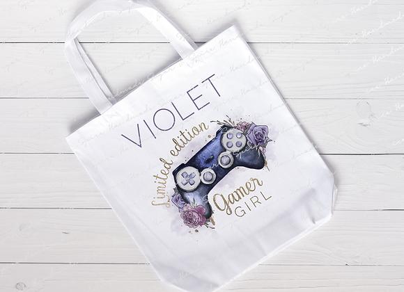 Personalised Girl Gamer Tote Bag