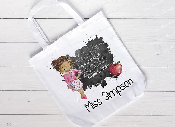 Personalised Teacher Tote Bag