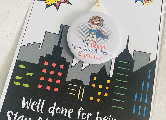 Personalised 'Stay at Home Superhero' Medal