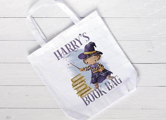 Personalised Wizard Book Bag