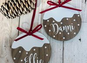 Personalised Christmas Pudding Decoration