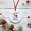 Thumbnail: Personalised Reindeer Christmas Decoration