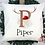 Thumbnail: Personalised Reindeer Initial Christmas Cushion