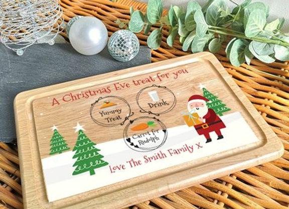 Personalised Christmas Eve Treats Board