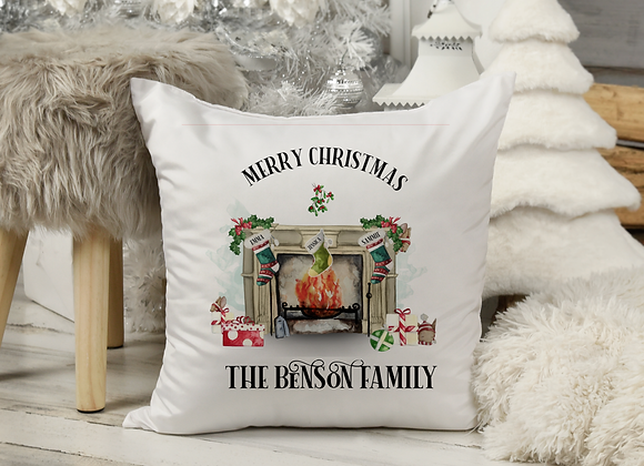 Personalised Family Christmas Cushion