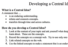 21-PE - PYP - PSPE - Developing a Central Idea.png