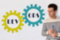 DevOps concept sign on white background.