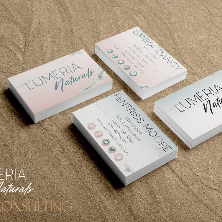 Lumeria Naturals Business Cards