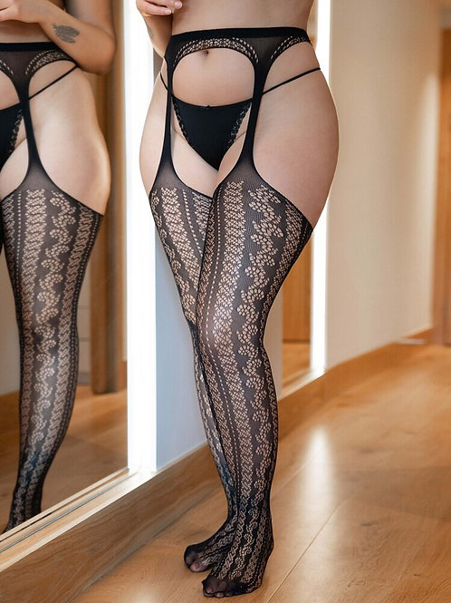 Cut Out Fishnet Stockings