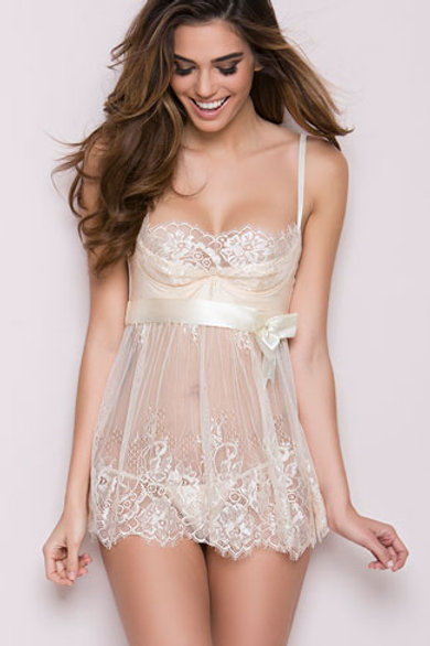 Elegance in Ivory Babydoll Set