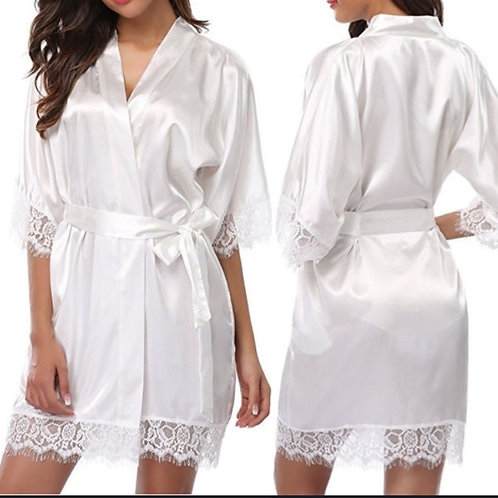 Ease the Heart Satin Robe