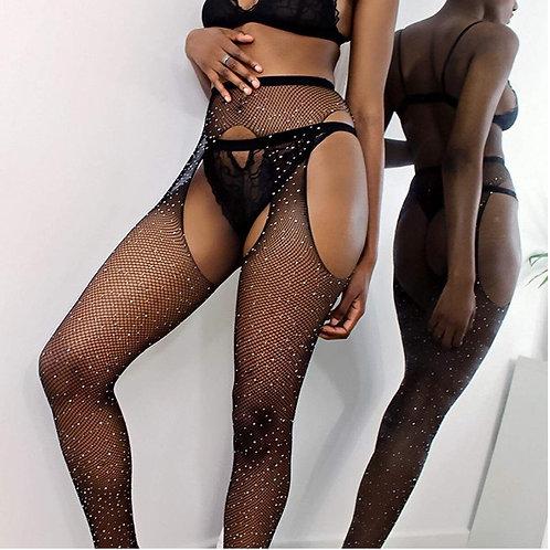 Crystal Mesh Stockings