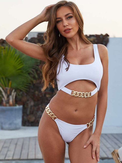 Pearly White Bikini Set