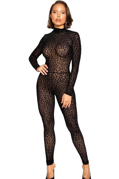 Velvet Leopard Full Bodysuit