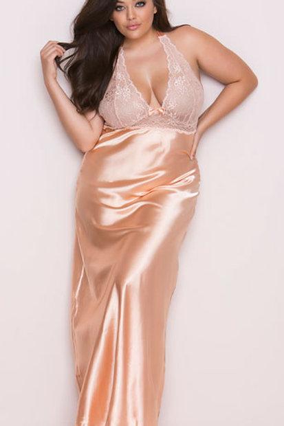 Just Peachy Elegant Gown