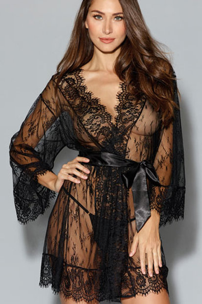 Romantic Effect Lace Robe