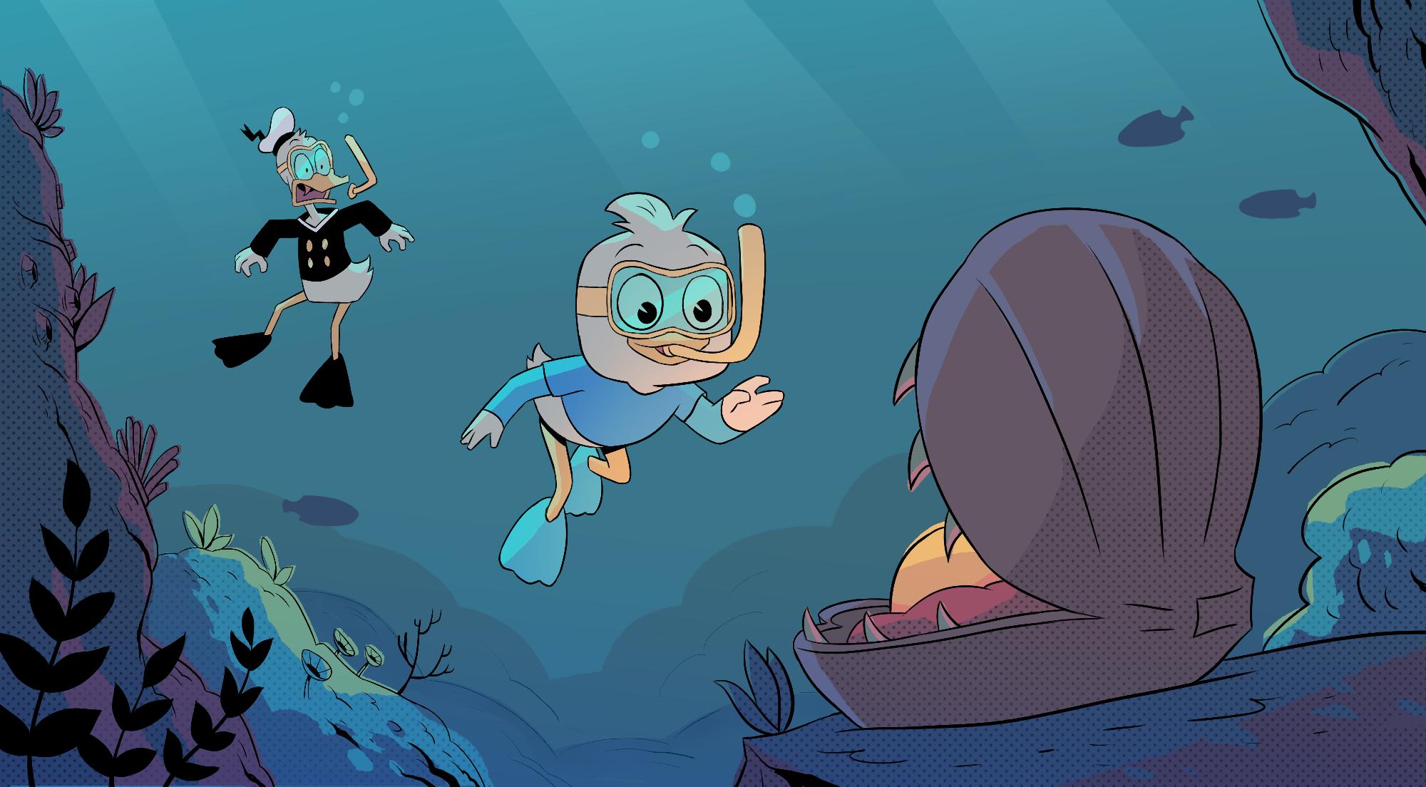 Ducktales Swimming