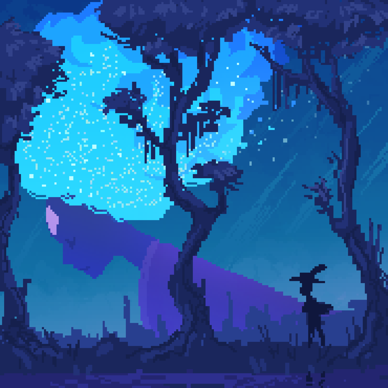 Wishing Star in Blue