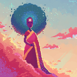 Space Mom Pixel Art