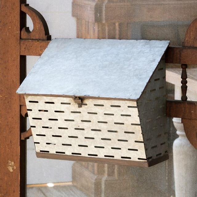 Olive Basket Letterbox, $38.00
