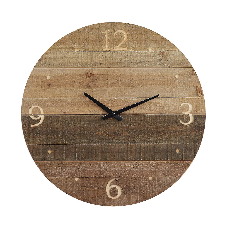 Wood Clock, $60