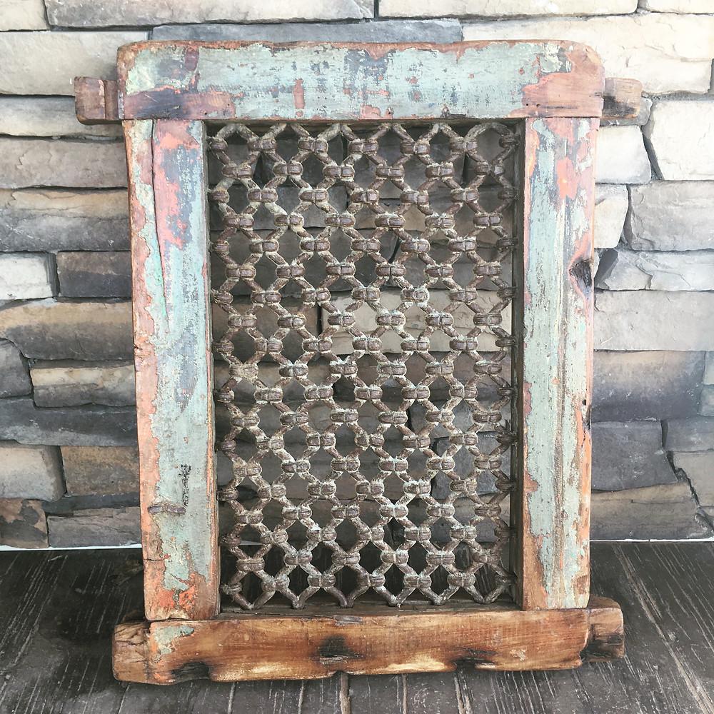 Indian Cast Iron Window, $110