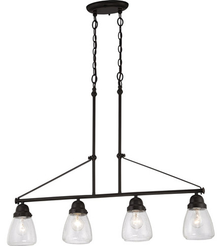4-Light Island Pendant Light Fixture