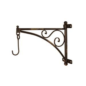 Metal Bracket with Hook, $38