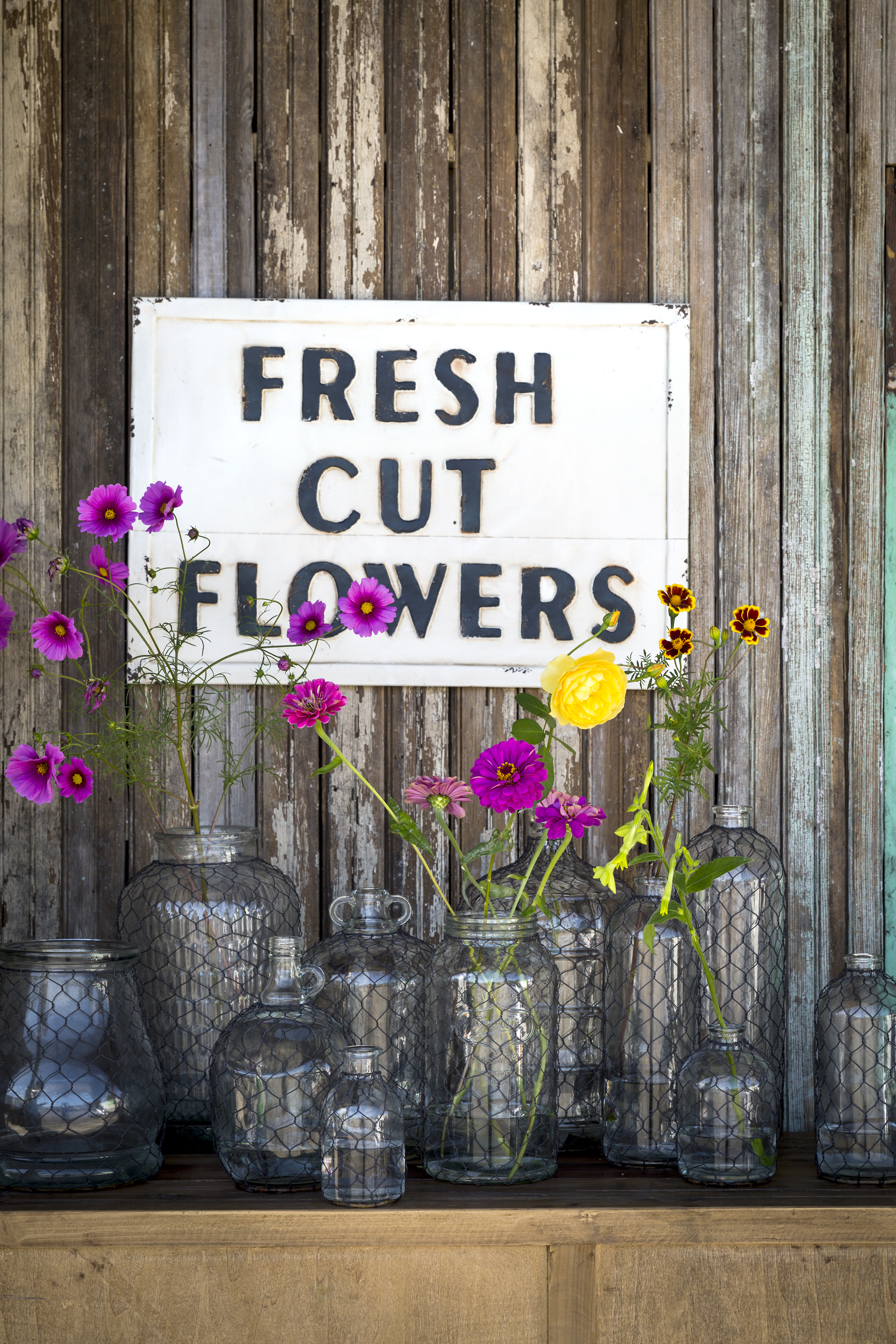 Fresh Cut Flowers Sign, $56