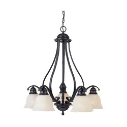 5-Light Downward Facing Chandelier