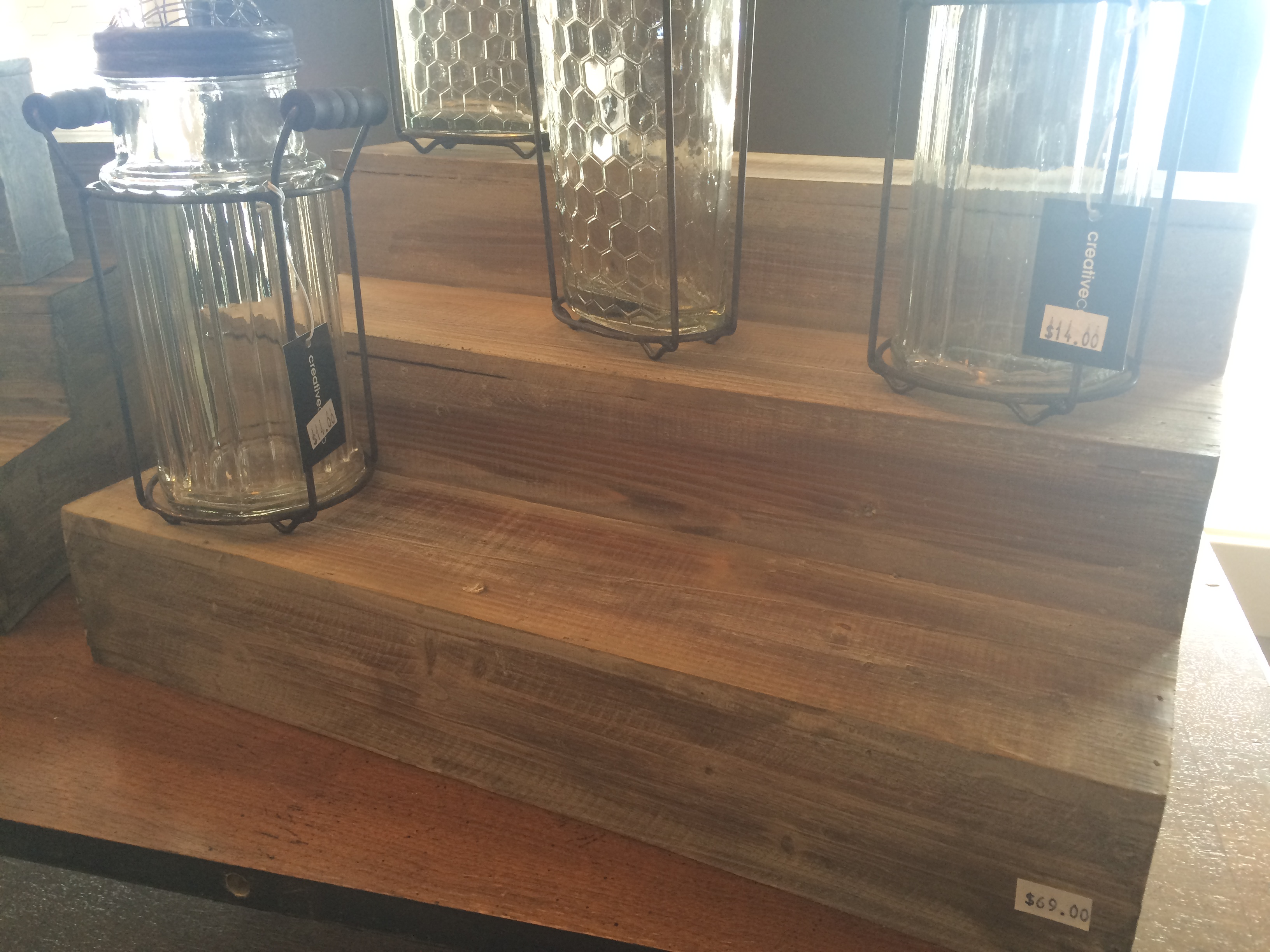 Wooden Step Display, $48